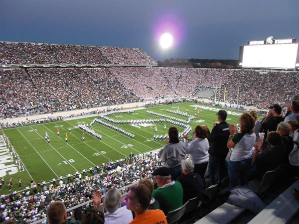 Lo Spartans Stadium, casa dei Michigan Spartans - NCAA