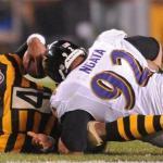 Il sack di Ngata sul quarterback Leftwich