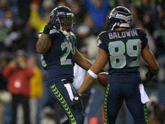 Lynch e Baldwin dei Seattle Seahawks