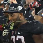 La felicità dei giocatori di Stanford per l'accesso al Rose Bowl