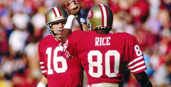 Il duo Montana-Rice protagonista degli anni 80 dei 49ers