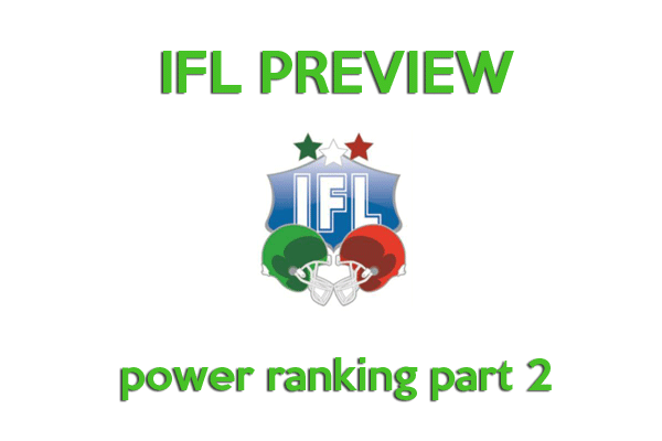 IFL Power Ranking preview 2014