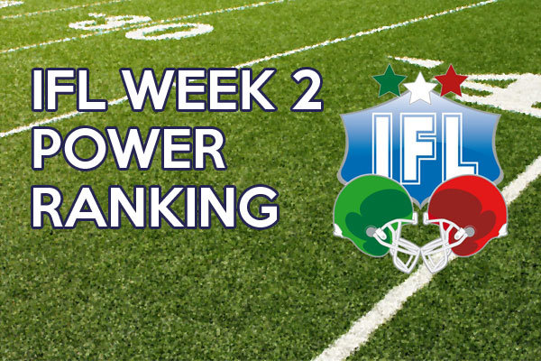 IFL power ranking week 2 2014