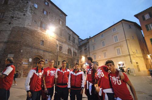 I grifoni nel centro storico di Perugia