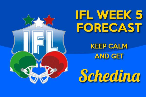 schedina IFL week 5 - 2014