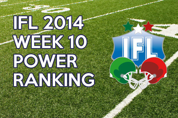IFL Power Ranking week 10 2014