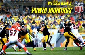 power rankings nfl 2016 wk 2