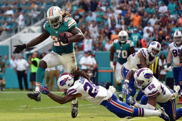 Jay Ajayi RB dei Miami Dolphins