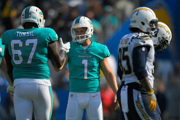 Cody Parkey Miami Dolphins kicker 2017