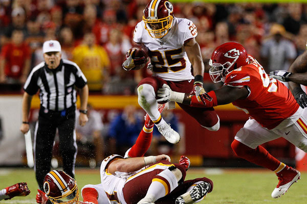 Chris Thompson Redskins Chiefs 2017