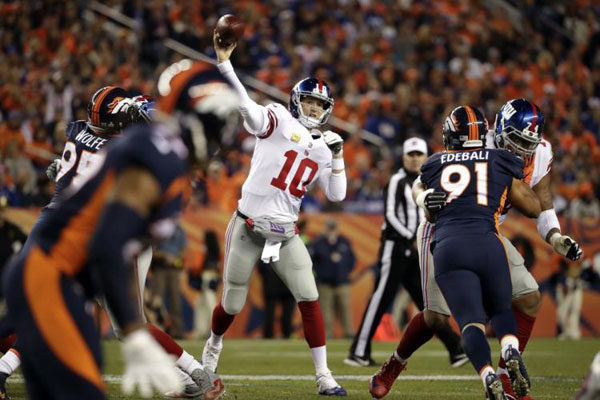 Eli Manning Giants Broncos 2017