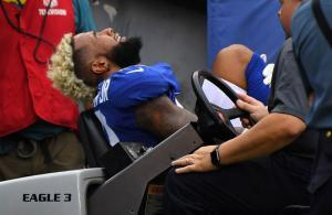 Odell Beckham injury vs Chargers