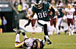 Zach Ertz Eagles vs Redskins touchdown