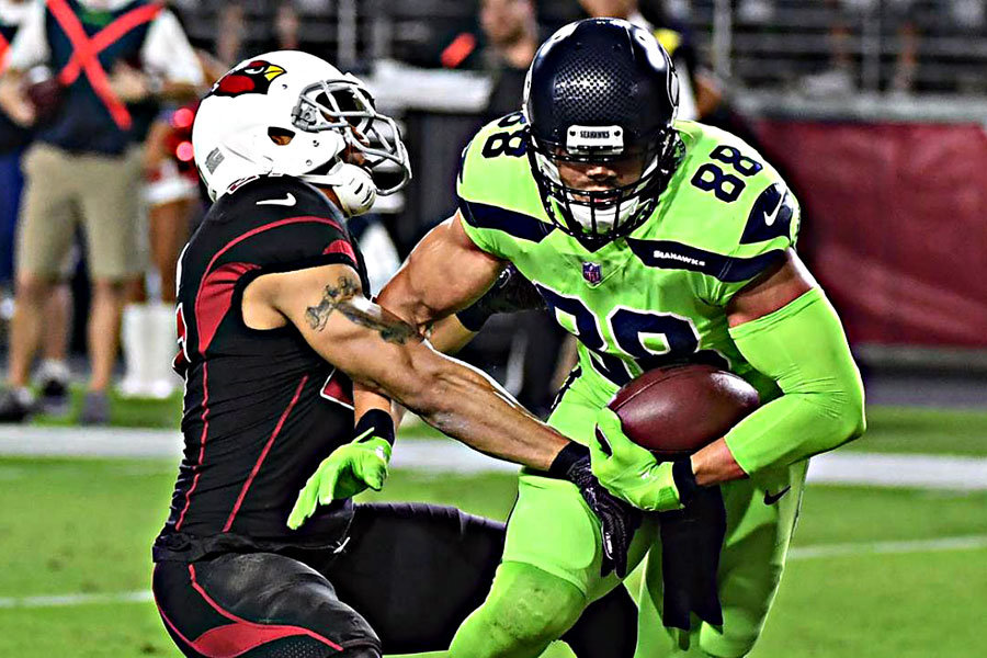 Jimmy Graham Seahawks Cardinals 2017
