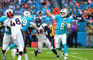 Jay Cutler Miami Dolphins vs Broncos 2017