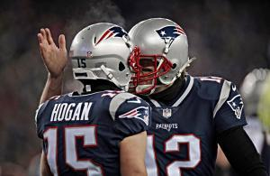 Patriots Brady Hogan playoff 2018 vs Titans