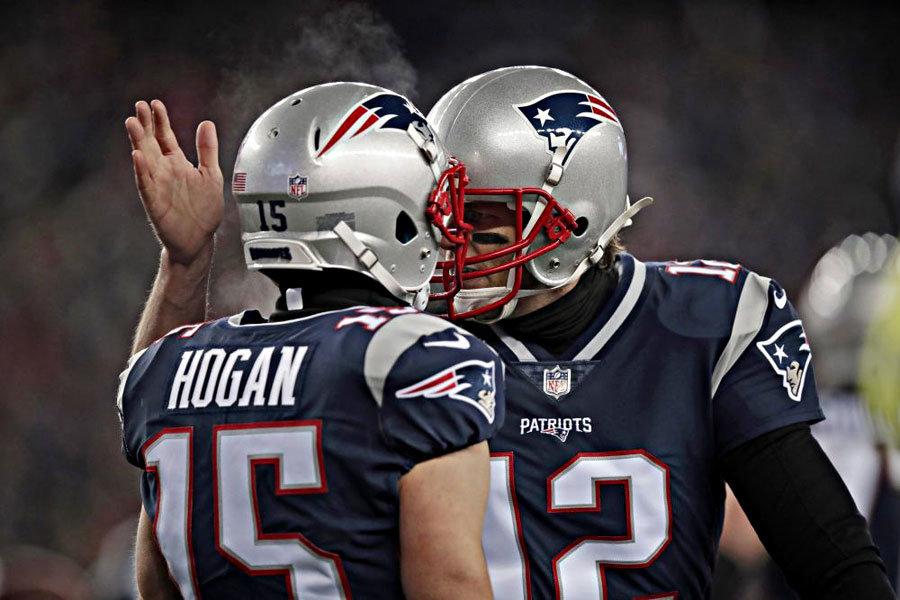 Patriots Brady Hogan playoff 2018 vs Titans