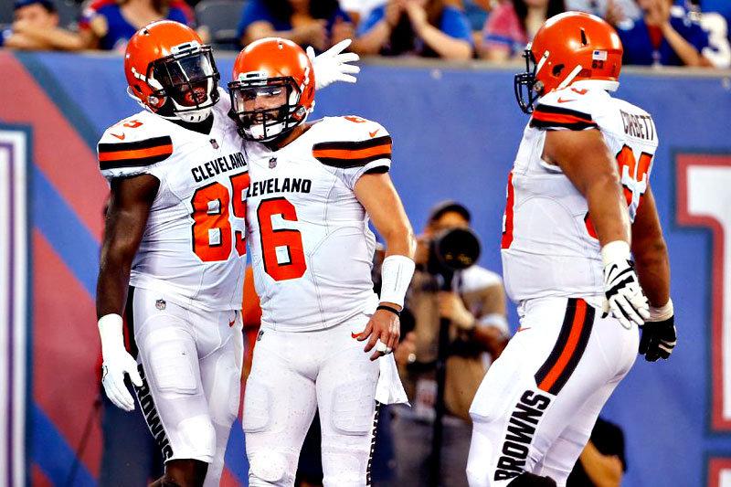 Baker Mayfield Browns vs Giants 2018 preseason