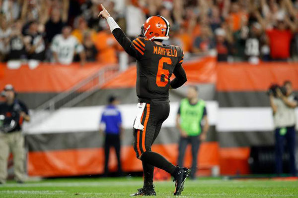 Baker Mayfield Browns Jets 2018