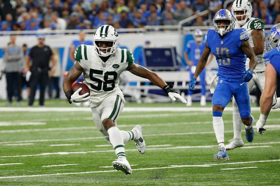 Darron Lee intercetto e touchdown in Lions vs Jets (NFL 2018)