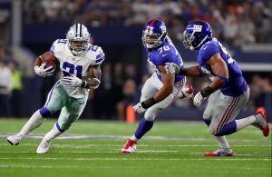Ezekiel Elliott Cowboys vs Giants