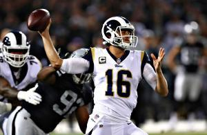 Jared Goff Rams vs Raiders 2018