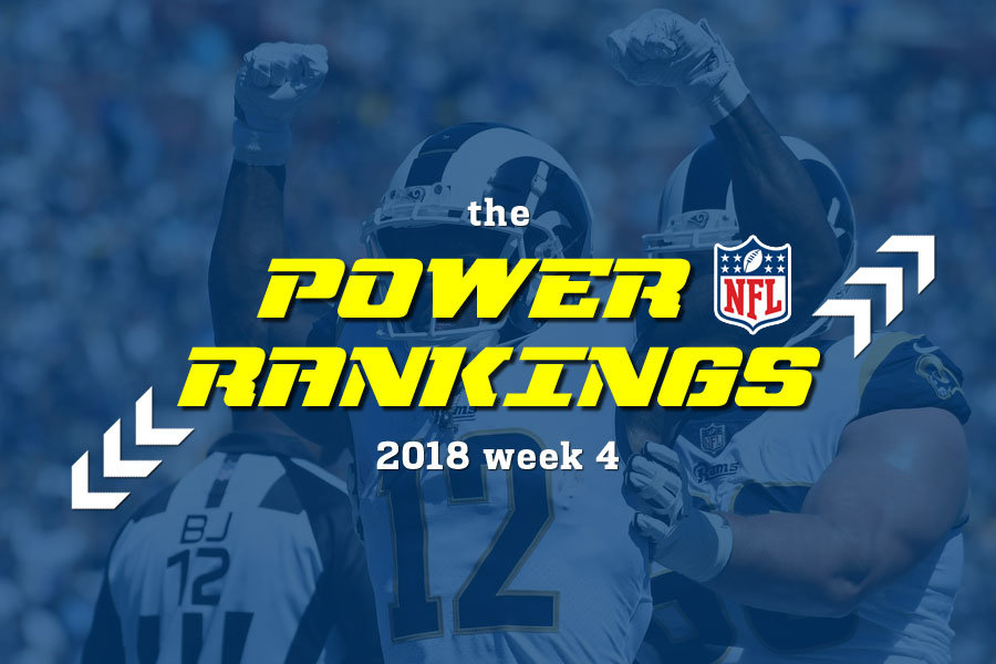 NFL power rankings 2018 w4