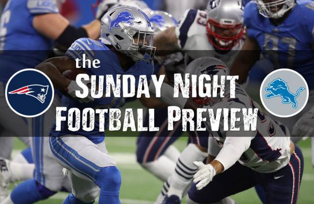 Sunday Night Football Lions-Patriots preview