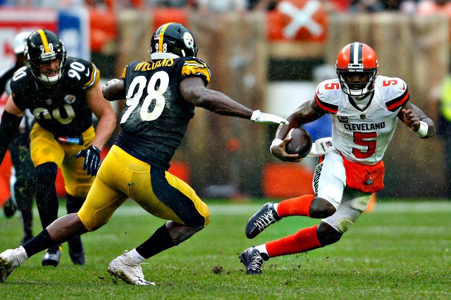 Tyrod Taylor Browns vs Steelers