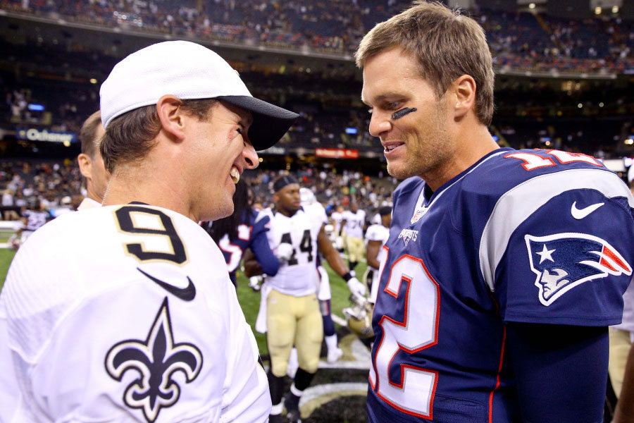 Drew Brees e Tom Brady