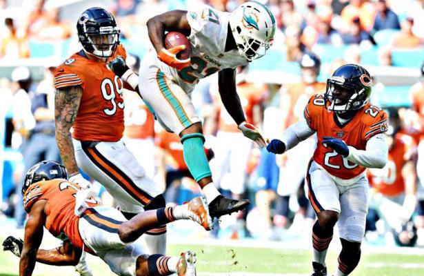 Frank Gore Dolphins vs Bears 2018
