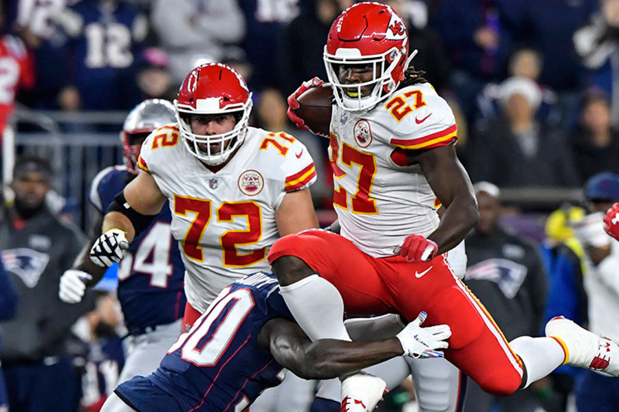 Kareem Hunt vs Patriots 2018
