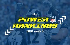 NFL power rankings 2018 week 5