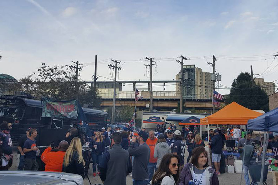 Tailgate party Chicago Bears
