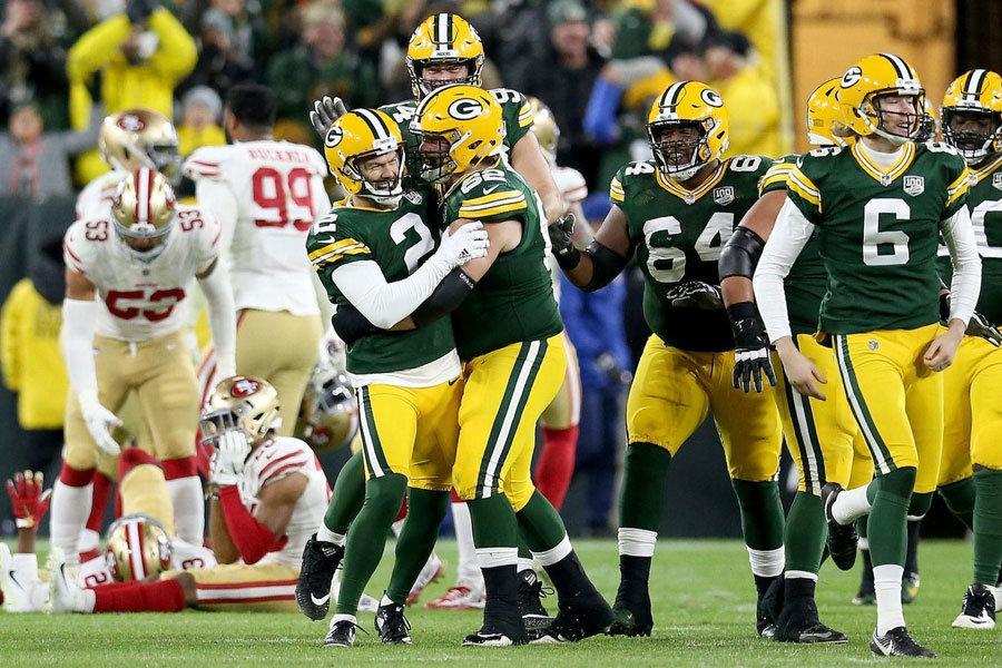 festa Packers disperazione 49ers 2018