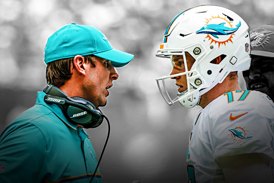 Adam Gase and Ryan Tannehill