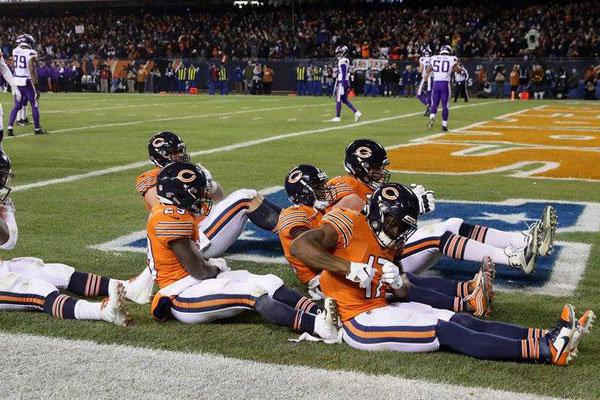 Bears festeggiamenti vs Vikings