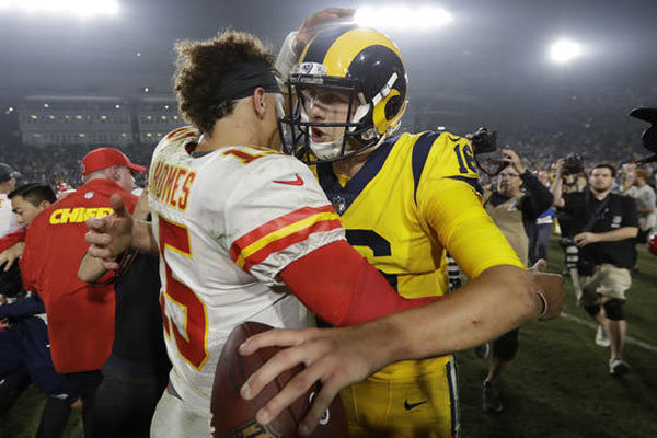 Goff Mahomes week 12 Power Ranking NFL 2018