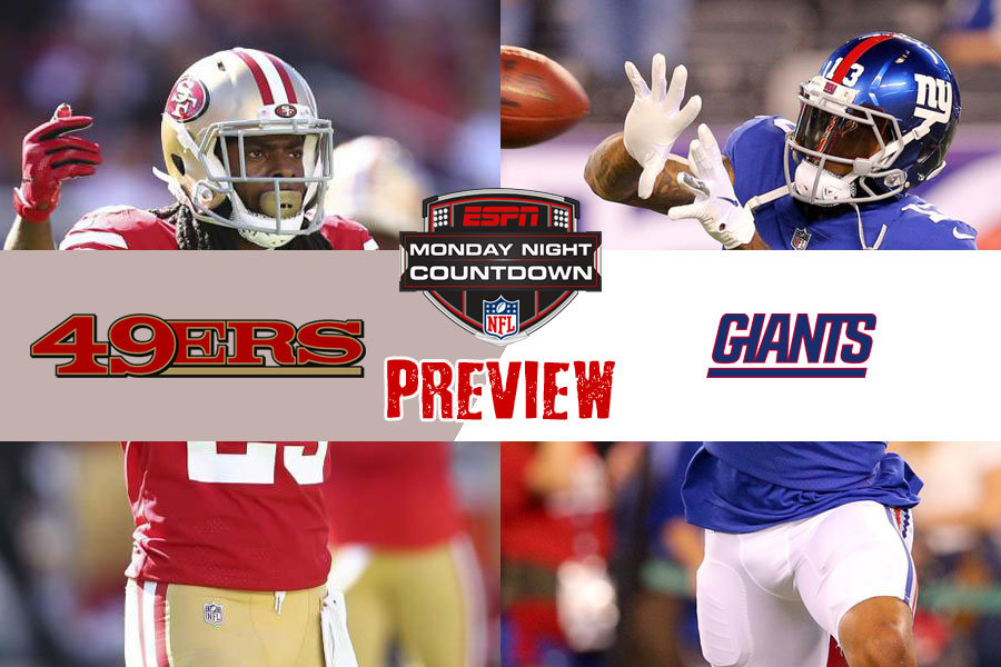 MNF 2018 preview 49ers vs Giants