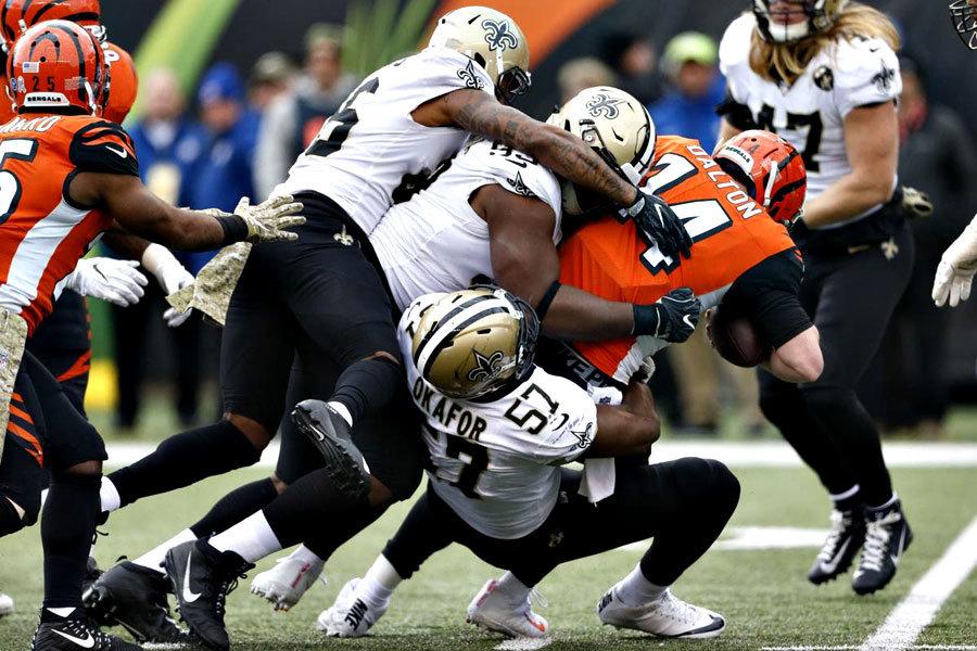 Saints travolgono i Bengals NFL 2018