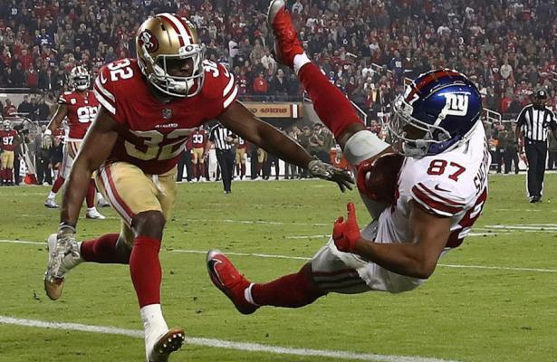 Sterling Shepard Giants vs 49ers
