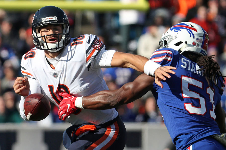 Trubisky sotto pressione Bills-Bears 2018