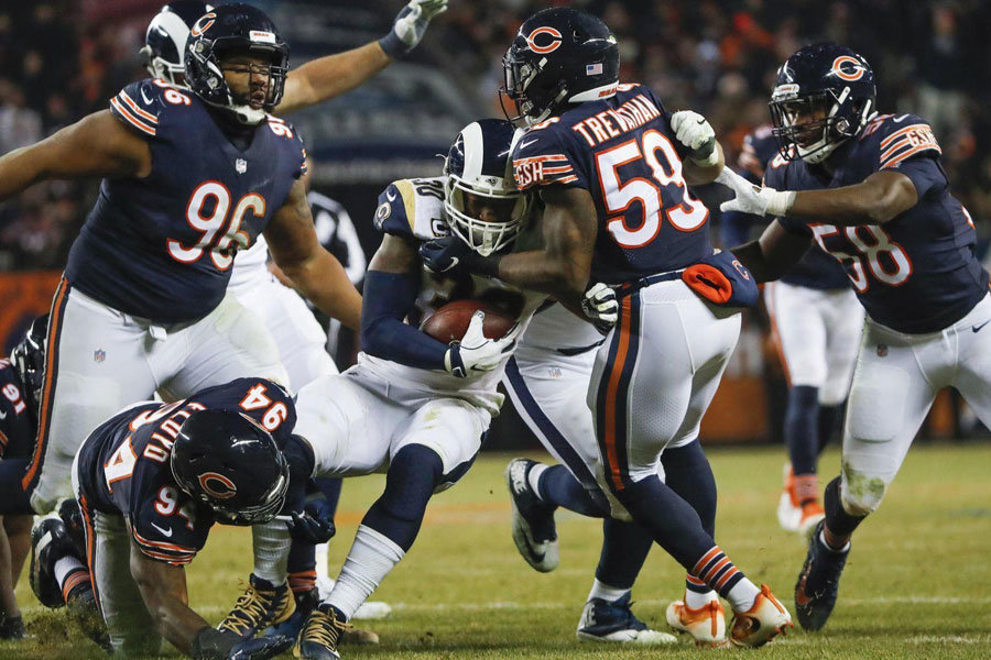 Bears run defense vs Rams NFL 2018