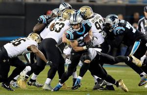 Christian McCaffrey Panthers vs Saints 2018
