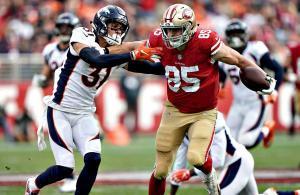 George Kittle San Francisco 49ers vs Broncos 2018