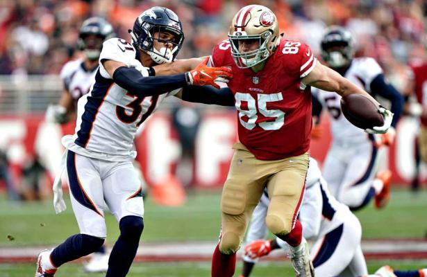 George Kittle San Francisco 49ers vs Broncos 2018