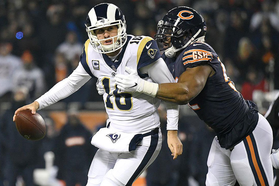 Jared Goff vs Bears defense 2018