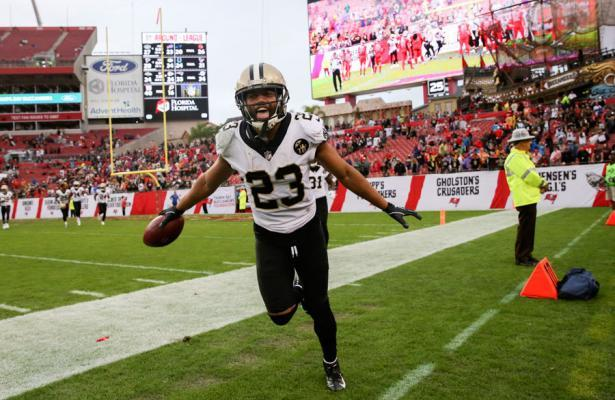 Saints cornerback Marshon Lattimore vs Buccaneers 2018