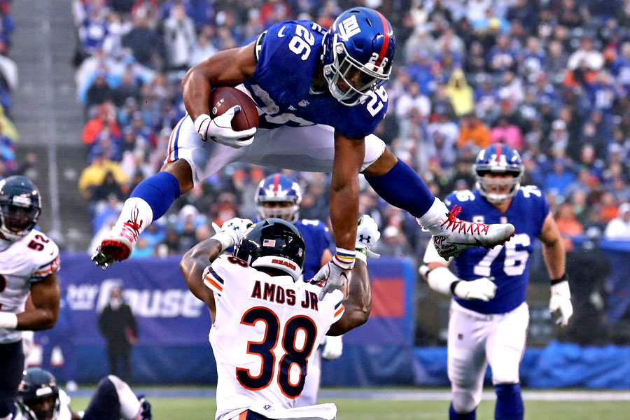 Saquon Barkley Giants vs Bears 2018