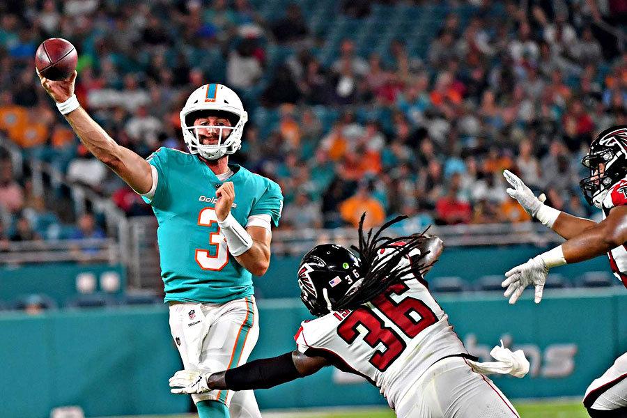 Josh Rosen Dolphins Falcons preseason 2019